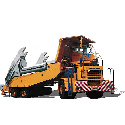 Slag-carrier BELAZ-79202 with payload capacity of 70 tons with the wheel formula 6х2 it is intended for transportation of liquid slag in ladles at the metallurgical enterprises...