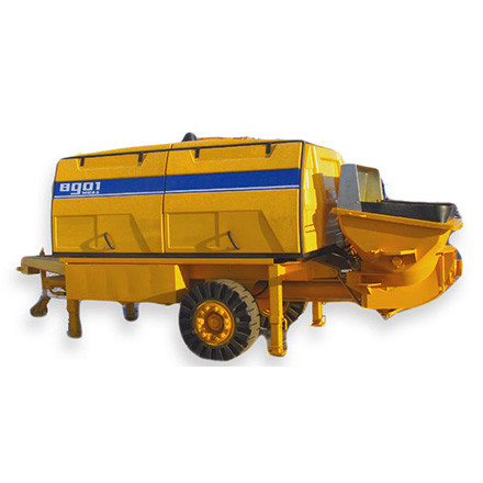 Permanently-trailer concrete pumps are used in the construction of high-rise buildings where concrete can not flow through concrete pumps.