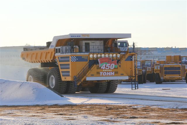 450-ton dump truck has been entered in the Guinness Book of World Records twice