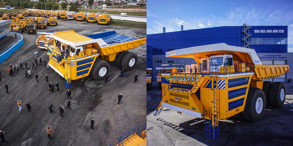 BELAZ LAUNCHES THE WORLD'S BIGGEST CAPACITY MINING DUMP TRUCK: THE 75710, 450 METRIC TON